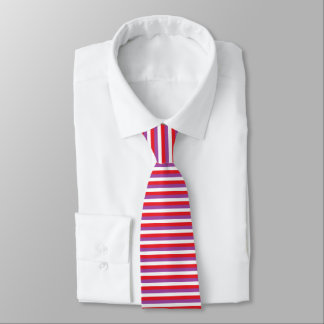 Red, Purple and White Stripes Tie
