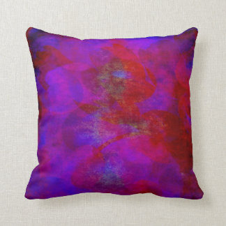 Red Purple Backdrop Watercolor Abstract Background Throw Pillow