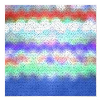 Red Purple Blue Ikat Chevron Zigzag Card