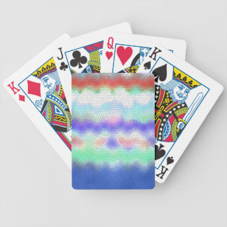 Red Purple Blue Ikat Chevron Zigzag Bicycle Playing Cards
