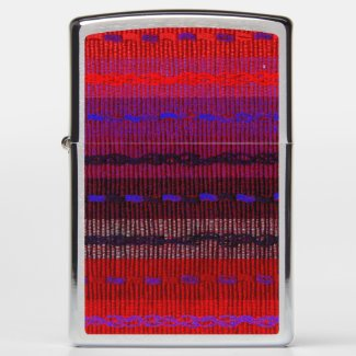 Red Purple Blue Woven Abstract Image Zippo Lighter