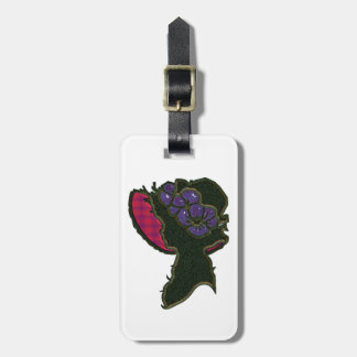 Red & Purple Bonnet Cameo Bag Tag