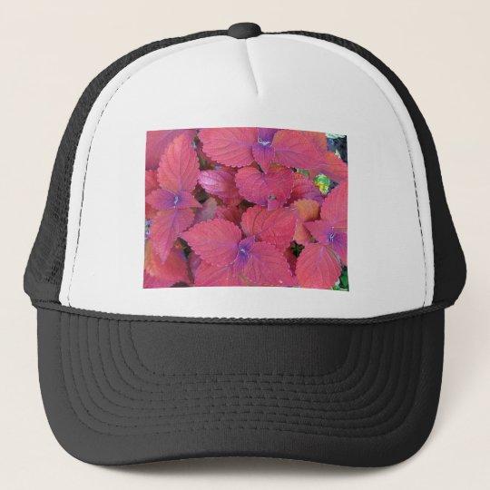 Red Purple Coleus Leaves Trucker Hat
