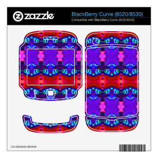 Red Purple colorful ribbon design Decal For BlackBerry
