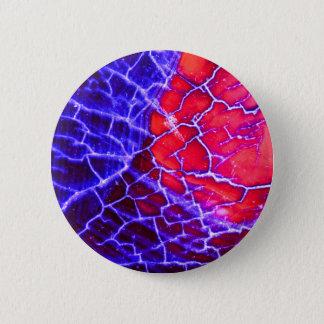 Red & Purple Cracked Quartz Crystal Pinback Button