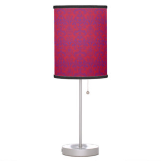 Red & Purple Damask Lamp