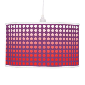 Red & Purple Fade Polka Dot Pendant Lamp