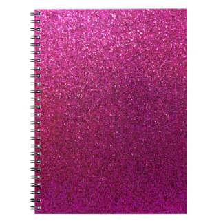 Red Purple Glitter Background Sparkle Glittery Notebook