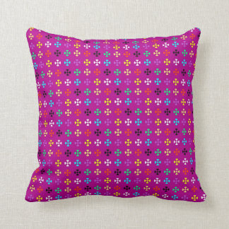 Red Purple Modern Geometric Pattern Pillow