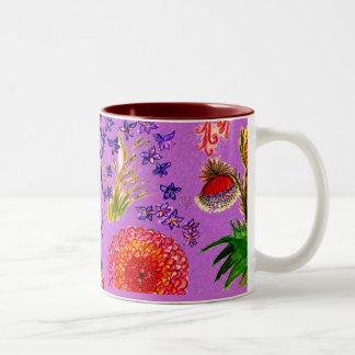 Red Purple Orchid Mug