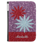 Red Purple Personalized Kindle Case