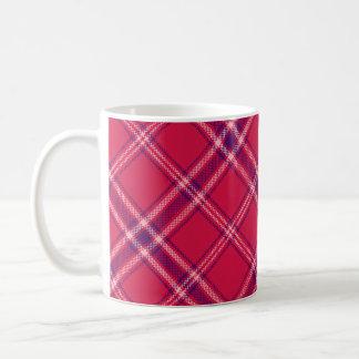 Red/Purple/Pink Tartan Plaid Mug