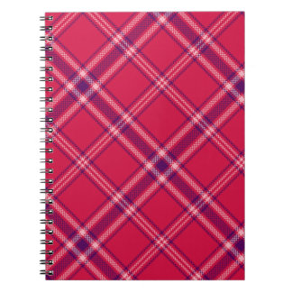Red/Purple/Pink Tartan Plaid Notebook