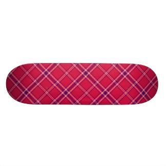 Red/Purple/Pink Tartan Plaid Skateboard
