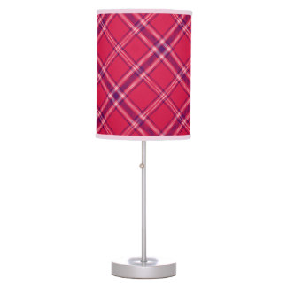 Red/Purple/Pink Tartan Plaid Table Lamp