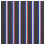 [ Thumbnail: Red, Purple, Powder Blue, Blue, and Black Lines Fabric ]