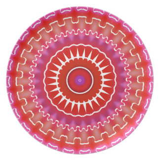 Red & Purple Southwestern Decorative Plate