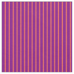 [ Thumbnail: Red & Purple Stripes/Lines Pattern Fabric ]