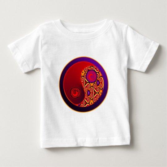 Red & Purple Swirls Yin Yang Baby T-Shirt