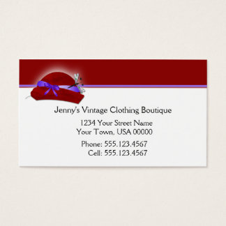 Red Purple Vintage Clothing Business Card