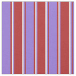 [ Thumbnail: Red, Purple & White Colored Lines Fabric ]