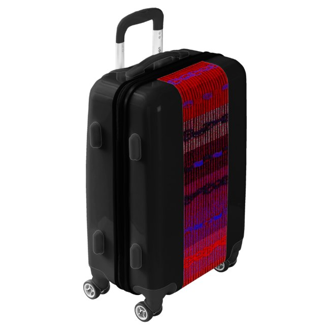 Red Purple Woven Stripes Image Luggage