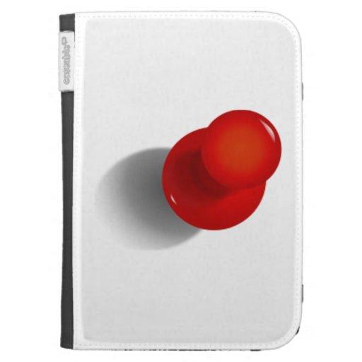 Red Push Pin Kindle Keyboard Case