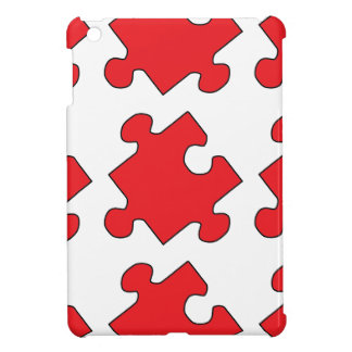 RED PUZZLE PIECE CASE FOR THE iPad MINI