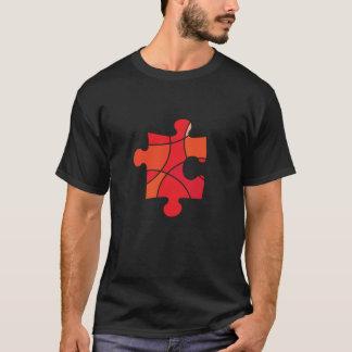 Red puzzle piece design T-Shirt