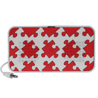 RED PUZZLE PIECE TRAVELLING SPEAKER
