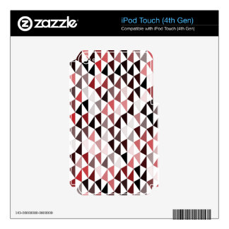 red pyramid pattern 03 iPod touch 4G skins