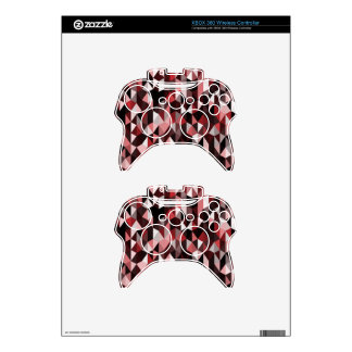 red pyramid pattern 07 xbox 360 controller skins