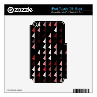 red pyramid pattern 09 skin for iPod touch 4G