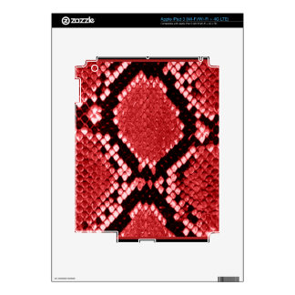 RED PYTHON PRINT SKIN DECALS FOR iPad 3