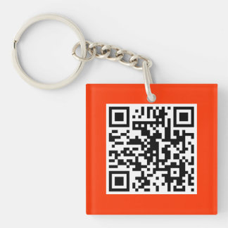 Red QR CODE Custom Key Chain
