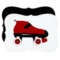 red quad roller derby skate card