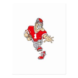 Red Quarterback Postcard
