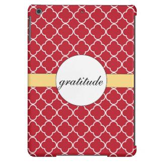 Red Quatrefoil Pattern iPad Air Case