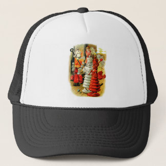 Red Queen and White King Into the Fire Trucker Hat