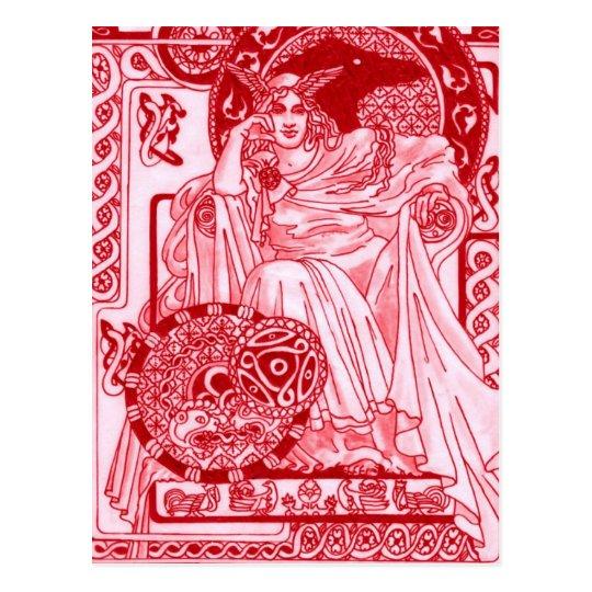 Red Queen Corbie Postcard