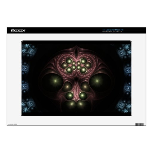 """Red Queen Fractal Zazzle Skin Decals For 15"""" Laptops"""