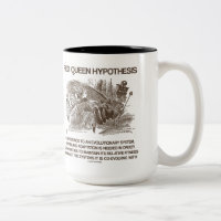 Red Queen Hypothesis (Alice Red Queen Wonderland) Two-Tone Coffee Mug