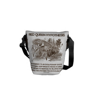 Red Queen Hypothesis (Relative Fitness) Courier Bag