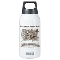 Red Queen Hypothesis (Wonderland Alice Red Queen) 10 Oz Insulated SIGG Thermos Water Bottle