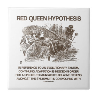 Red Queen Hypothesis (Wonderland Alice Red Queen) Ceramic Tile