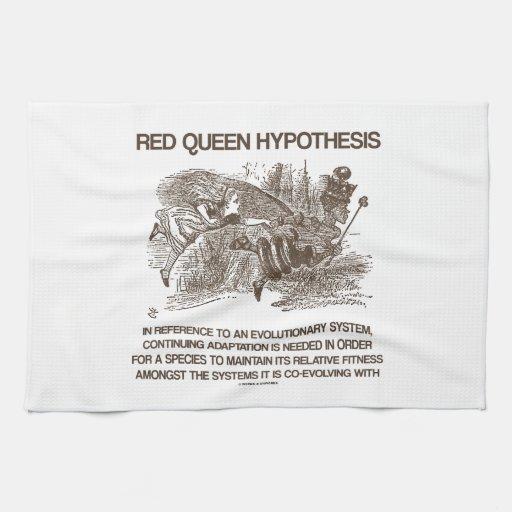Red Queen Hypothesis (Wonderland Alice Red Queen) Hand Towel