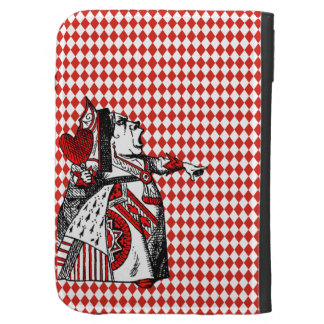 Red Queen of Hearts Alice in Wonderland Kindle Kindle Keyboard Cases