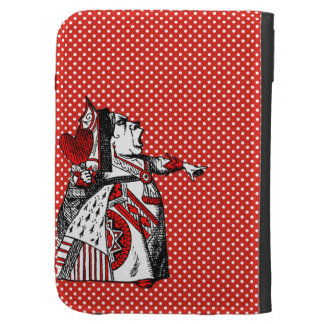 Red Queen of Hearts Alice in Wonderland Kindle Kindle Keyboard Case
