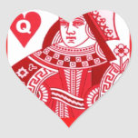 Red Queen of Hearts Heart Sticker