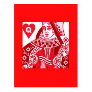 Red Queen of Hearts Postcard